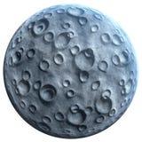 Mond auf Weiß Lizenzfreie Stockbilder