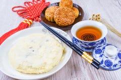 Mond backt für das chinesische Mittherbstfest zusammen Lizenzfreies Stockfoto