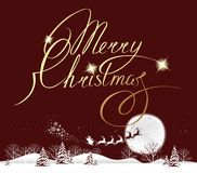 Mond der frohen Weihnachten Stockbild