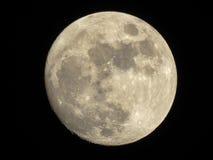 Mond im dunklen nächtlichen Himmel Lizenzfreies Stockfoto