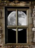 Mond im Fenster lizenzfreie stockfotos
