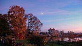 Mond im Himmel Lizenzfreies Stockfoto