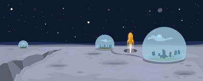 Mond-Landschaftshintergrund stock abbildung