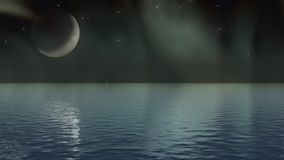 Mond-Lit-Nacht Lizenzfreie Stockfotos