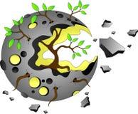 Mond mit einem Baum vektor abbildung