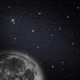 Mond mit Sternen Lizenzfreie Stockfotos