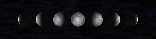 Mond-Phasen Lizenzfreies Stockfoto