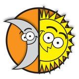 Mond u. Sonne Stockfotos