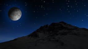 Mond-u. Twinklings-Sterne HD lizenzfreie abbildung
