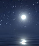 Mond und nächtlicher Himmel Stockfotografie