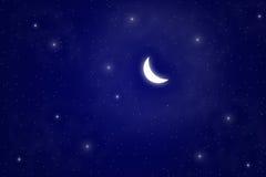 Mond und Stern Lizenzfreie Stockbilder