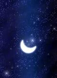 Mond und Sterne Lizenzfreie Stockbilder