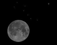 Mond und Sterne Stock Abbildung