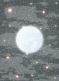Mond und Sterne Stockbild