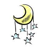 Mond und Sterne vektor abbildung