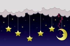 Mond und Sterne Stockfotos