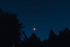 Mond und sternenklare Nacht Lizenzfreie Stockbilder