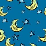 Mond- und Sternhintergrund vektor abbildung