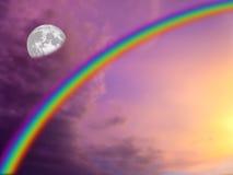 Mond und Tag Lizenzfreies Stockbild
