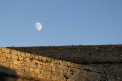 Mond und Wände Stockfoto