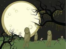 Mond und zombis Stock Abbildung