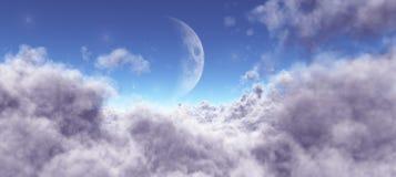 Mond unter den Wolken Lizenzfreie Stockfotos