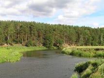 Mond van de rivier Royalty-vrije Stock Fotografie