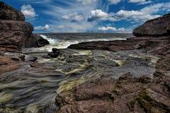Mond van Grote Rivier in Newfoundland royalty-vrije stock afbeelding