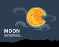 Mond-Vektor-Illustrations-Hintergrund Lizenzfreie Stockfotos
