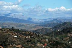 Monda, Andalucia, Spain. View of the mountainous countryside, Monda, Malaga Province, Andalusa, Spain, Western Europe Stock Photos