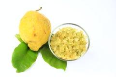 Monda del limón escarchada Imagen de archivo libre de regalías