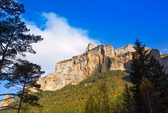 Mondarruego peak Pyrenees in Valle de Ordesa Huesca Spain Stock Photography