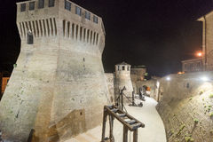 Mondavio (Marches, Italy) by night Royalty Free Stock Image