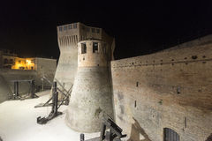 Mondavio (Marches, Italy) by night Stock Images