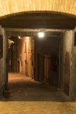 Mondavio (Marsen, Italië) 's nachts Royalty-vrije Stock Fotografie