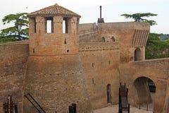 Mondavio - Muren en torens Royalty-vrije Stock Fotografie