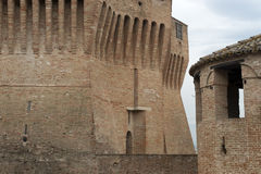 Mondavio - Walls and towers Royalty Free Stock Photo