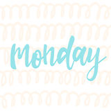 Monday. Abstract lettering for card, invitation, t-shirt Stock Photography