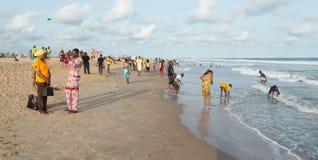 Monday afternoon at Obama Beach, Cotonou Royalty Free Stock Images