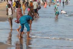 Monday afternoon at Obama Beach, Cotonou Stock Images
