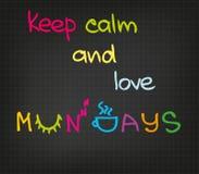 Monday attitude Stock Photography