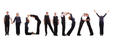 Monday business group stock image
