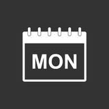 Monday calendar page pictogram icon. Royalty Free Stock Photos