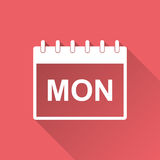 Monday calendar page pictogram icon. Stock Photography