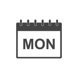 Monday calendar page pictogram icon. Royalty Free Stock Photography