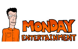 Monday entertainment illustration Royalty Free Stock Images