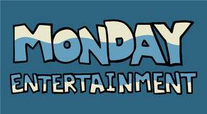 Monday entertainment symbol Royalty Free Stock Photos