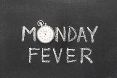 Monday fever watch Stock Image