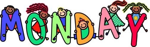 Monday Kids Stock Image