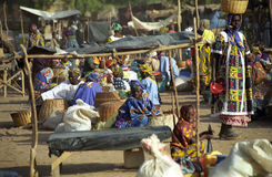 Monday market, Djenne, Mali stock photography